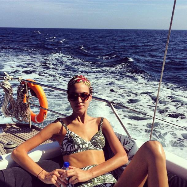 swimwear sunglasses alexa chung