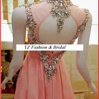 YZ Sexy Beads Crystal Pink Strapless A-line Diamond Evening Dresses  · YZ Fashion Bridal · Online Store Powered by Storenvy