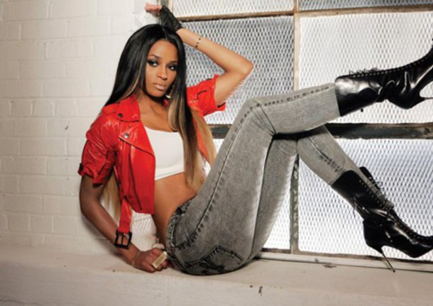 jacket ciara boots crop tops jeans grey jeans dance singer