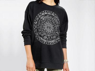 Le Shirt Zodiac Dial Sweatshirt