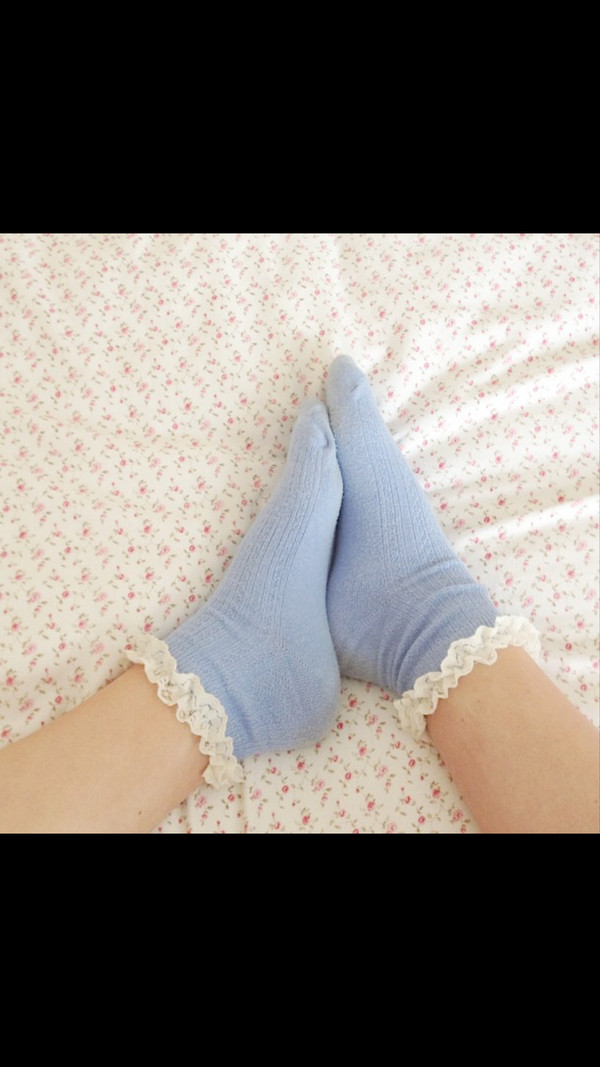 shoes socks lace rosy style cute