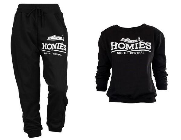 sweater black pants