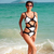 One Piece White Black Monokini 3050 Swimwear Swimsuit Set | eBay
