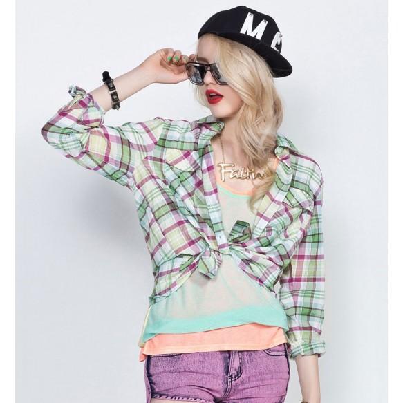 Bright Checkered Shirt at Style Moi