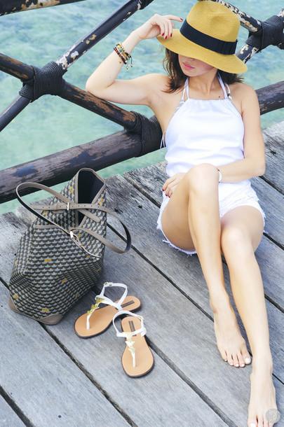kryzuy blogger top hat shorts shoes bag