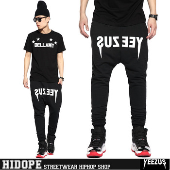Yeezus Sport Pants 2014  Hiphop Mens Pants Casual Sweatpants for Men Plus Size 3xl Wholesale Drop Shipping-in Pants from Apparel & Accessories on Aliexpress.com