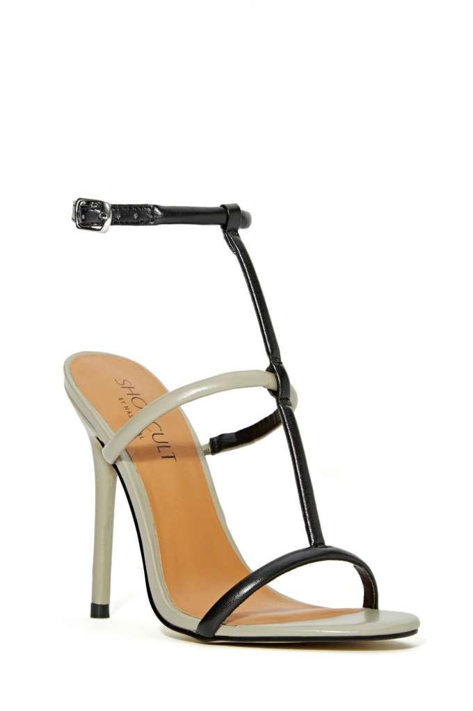 Shoe Cult Flux Sandal - Grey/Black | Shop Heels at Nasty Gal