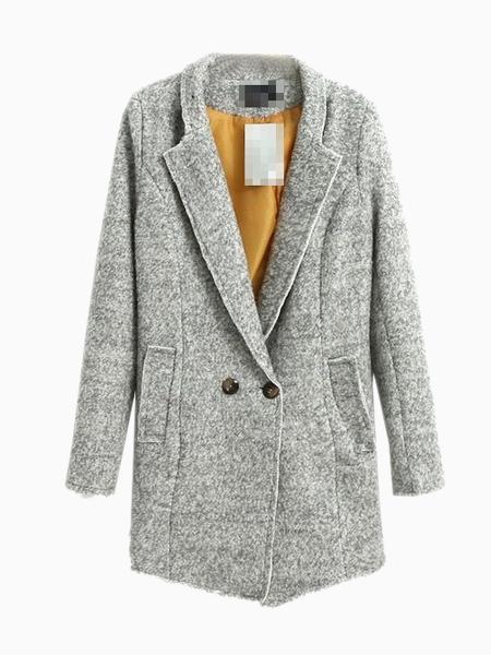 Light Gray Longline Coat | Choies
