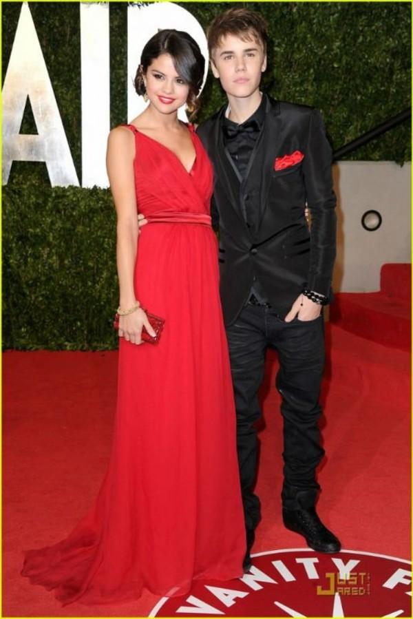 dress selena gomez long dress red dress celebrity style chiffon