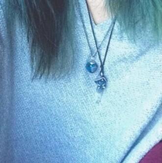 jewels mushroom crystal necklace