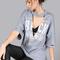 Distressed cutout rocker t-shirt stone -shein(sheinside)