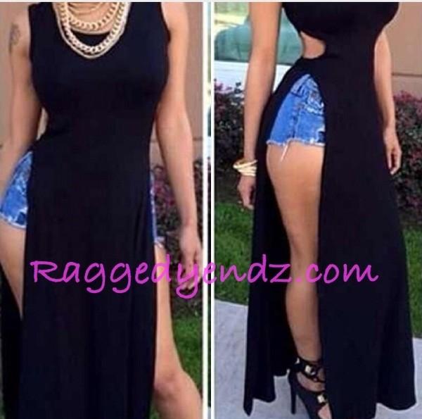 dress long t-shirt dress black dress raggedyendz t-shirt dress long t-shirt black dress clubwear summer dress draya michele draya michele