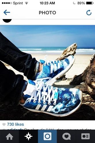 shoes adidas light blue waves menswear mens shoes