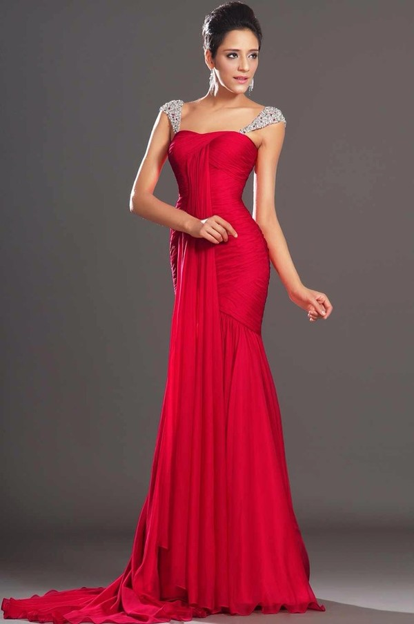 Collection Red Long Dress Pictures - Reikian