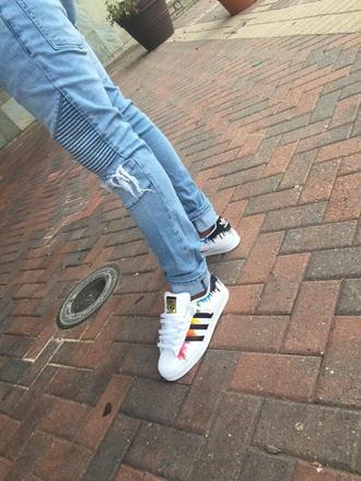 shoes adidas multicolor paint splash adidas supercolor adidas originals sneakers adidas shoes adidas superstars
