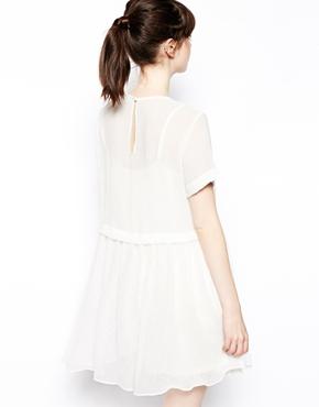 ASOS   ASOS Smock Dress In Sheer Texture at ASOS
