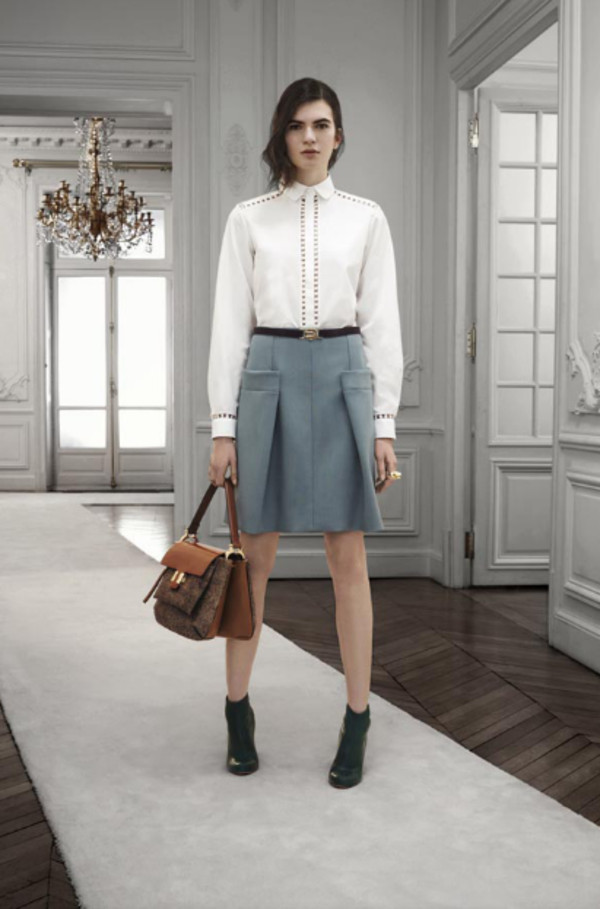 bag lookbook fashion chloe shirt skirt