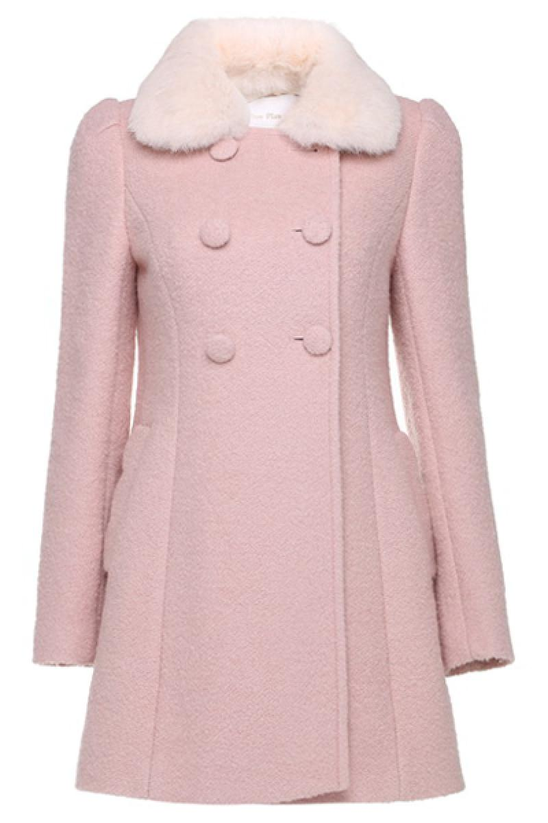 Winter New Section Double Breasted Fur Collar Long Sleeve Woolen Overcoat,Cheap in Wendybox.com