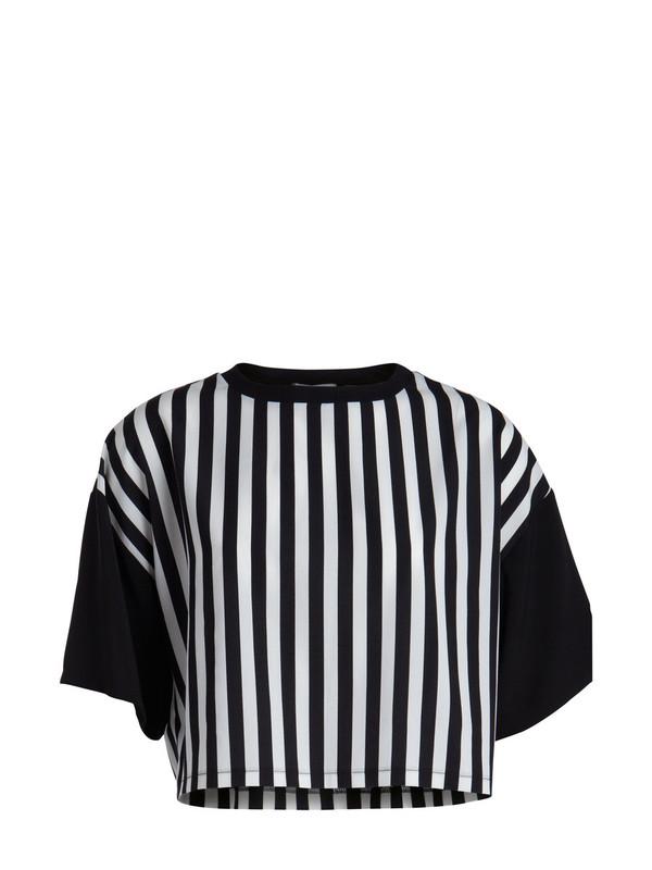 t-shirt striped crop t-shirt