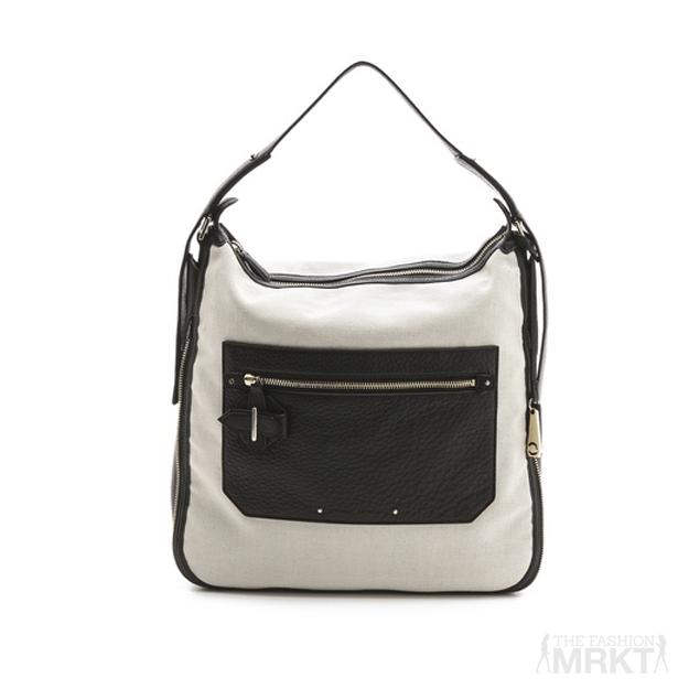 10 Crosby Derek Lam Crosby Canvas & Leather Bag in Chalk / TheFashionMRKT