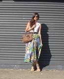 Vintage Carla Silk Printed Skirt | Eco Fashion Ethical Fashion EKOLUV Eco Boutique