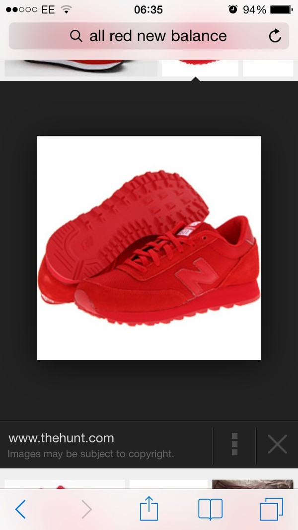 shoes all red new balance