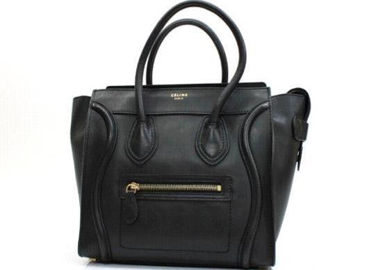 Authentic Celine Luggage Series Micro Shopper Tote Bag Black 167793 Leather | eBay