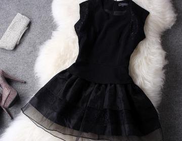 Elegant Black Lace Dress on Luulla