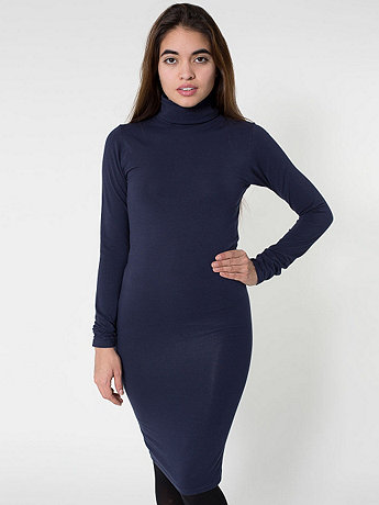 Cotton Spandex Jersey Turtleneck Dress | American Apparel