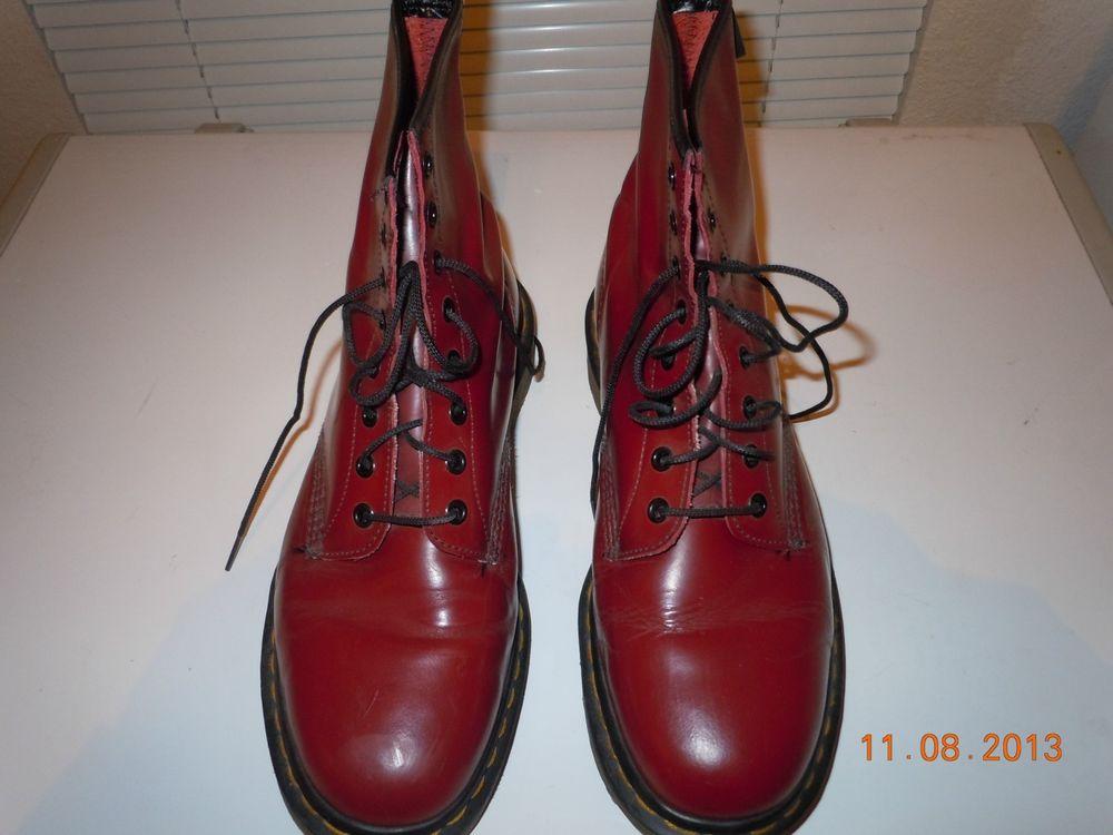 Classic Docs Dr Martens Boots Oxblood Maroon 8 Eyelet Mens Sz 10 US 9 UK | eBay