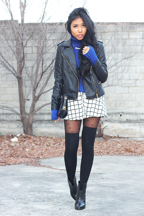 fashion of a novice skirt jacket shoes sunglasses