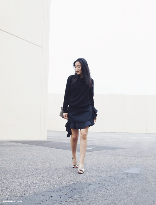 andy heart skirt shoes bag sweater