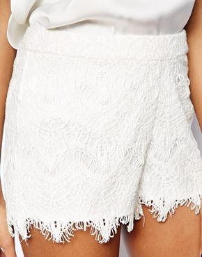 Vero Moda | Vero Moda Crochet Lace Short at ASOS