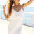 White Party Dress - White Sleeveless Lace Overlay Dress | UsTrendy