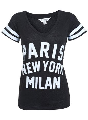 Paris New York Milan Tee - Back To Basics  - Clothing  - Miss Selfridge