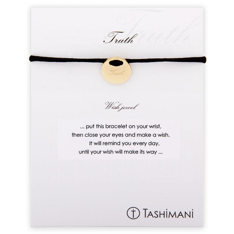 TASHIMANI-Shop.de | TASHIMANI Wish jewel - Truth Gold | schwarz | Armbänder