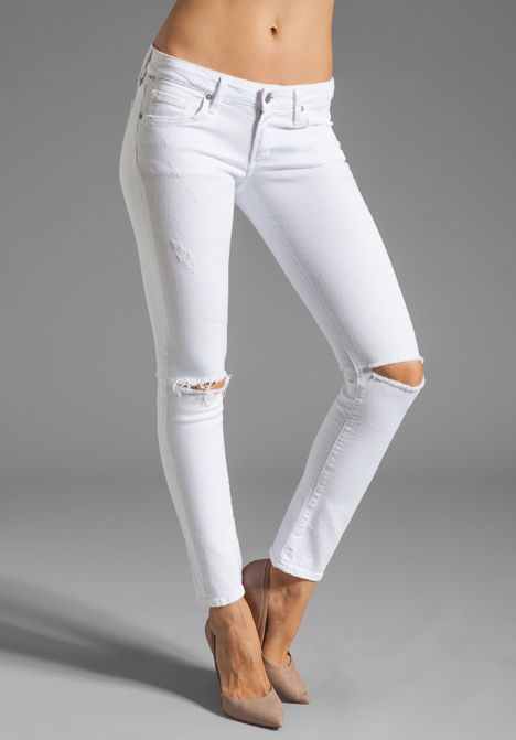 Citizens Of Humanity Racer Lowrise Skinny in Distressed Santorini at Revolve Clothing - Free Shipping!
