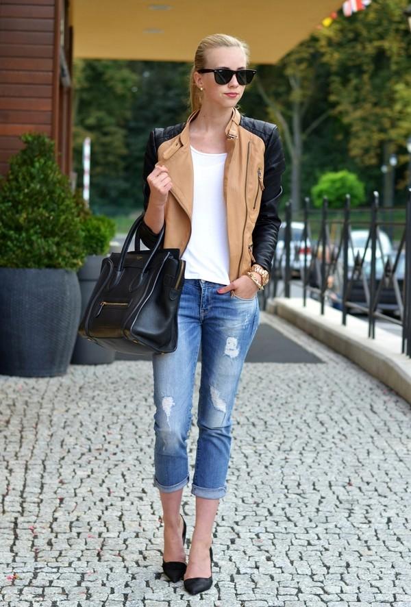 vogue haus t-shirt jacket jeans shoes bag sunglasses jewels