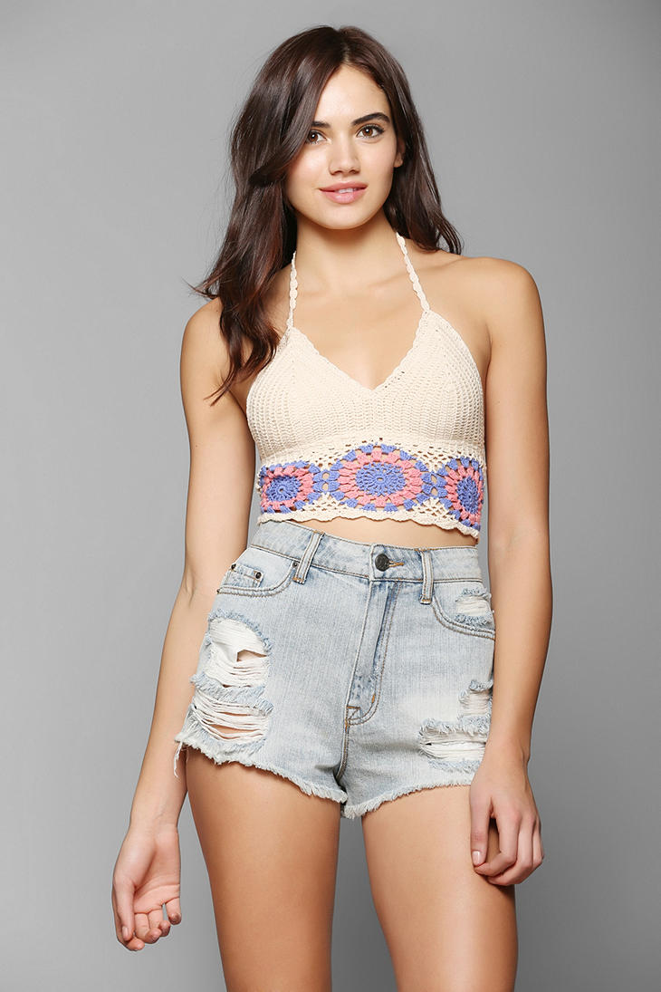 Ecote Floral Crochet Bra Top - Urban Outfitters