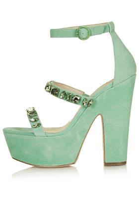 LEAH Jewel Platform Sandals - Topshop USA