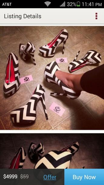 shoes chevron pumps