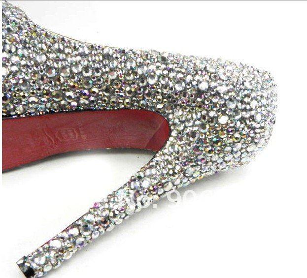 New Silver sequins Upper Hidden Platform 160mm High Heels Pumps Shoes euro 35 41-in Pumps from Shoes on Aliexpress.com