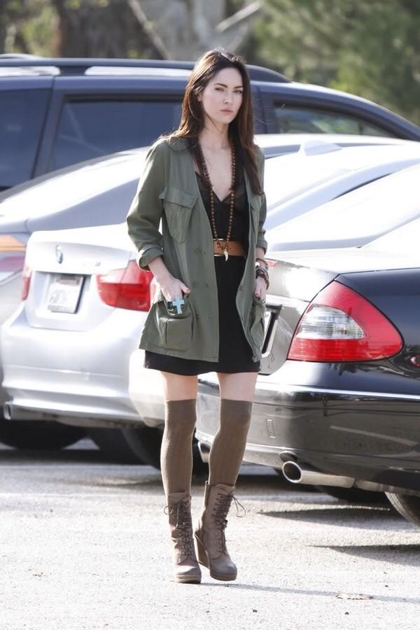 dress fashion megan fox fashion icon coat
