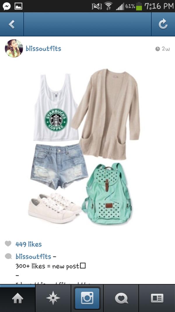 shirt cute hipster starbucks coffee sweater