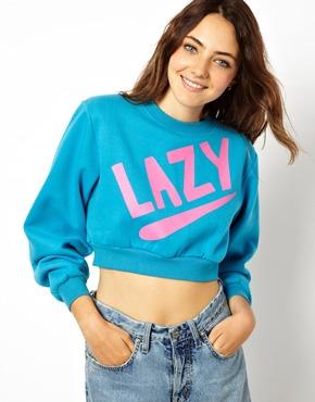 Lazy Oaf   Lazy Oaf Lazy Sweatshirt at ASOS