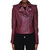 DIESEL Burgundy Marlene Leather Jacket / TheFashionMRKT