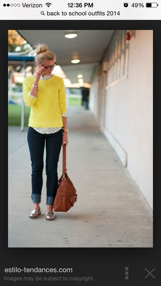 top pullover yellow lace