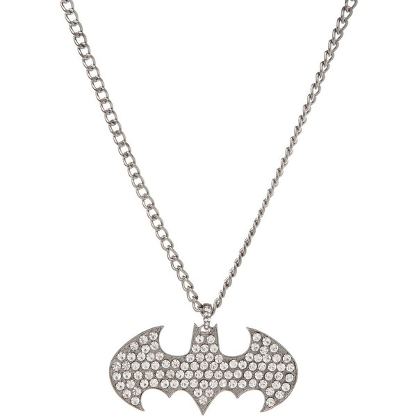 Hematite Bling Batman Necklace - Polyvore