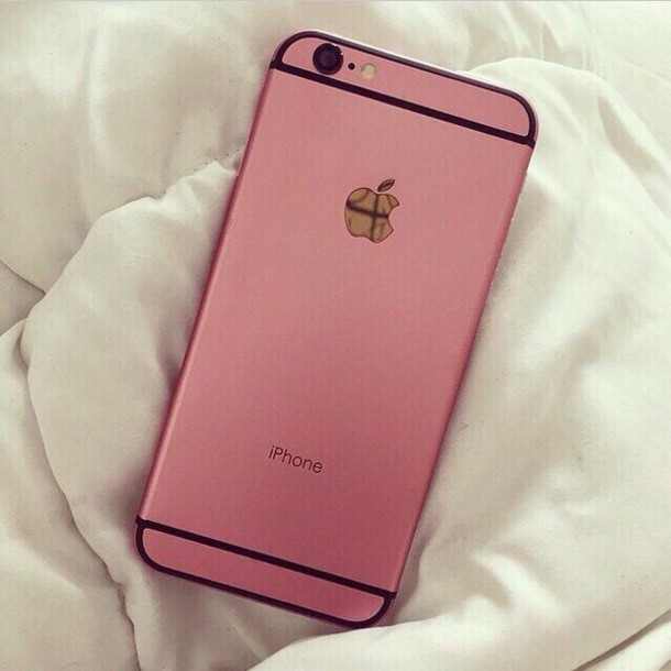 phone cover pink gold apple