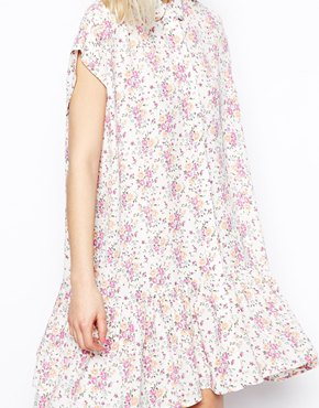 ASOS | ASOS Dress in Summer Floral Print with Dropped Waist at ASOS